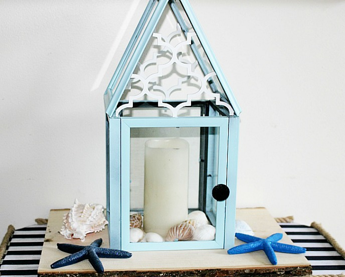 DIY Lantern From Dollar Store Frames ~ Our Crafty Mom
