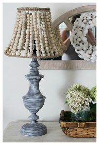 How To Make A Pottery Barn Inspired Wood Bead Lamp