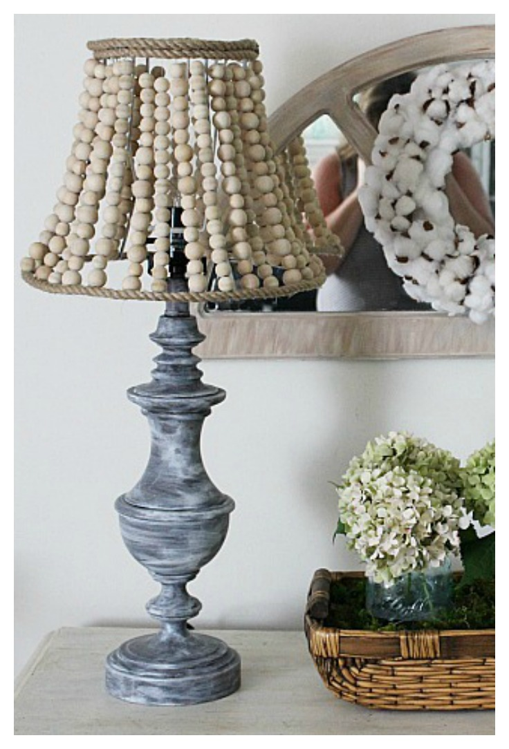 How To Make A Pottery Barn Inspired Wood Bead Lamp Our
