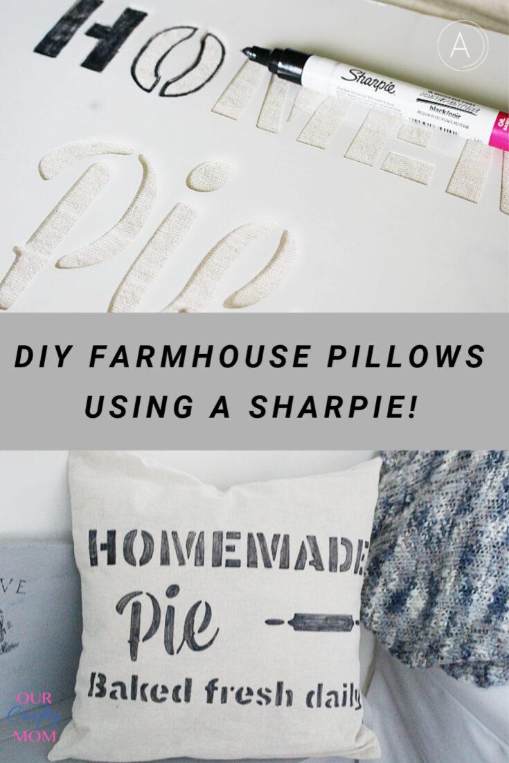 Sharpie pillows