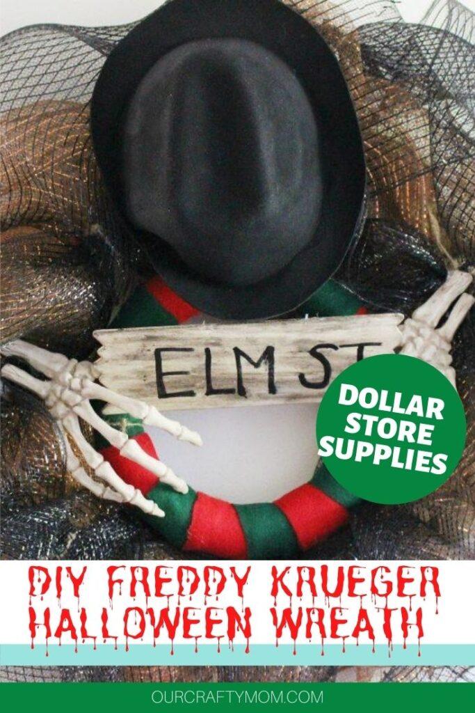 DIY Freddy Krueger Wreath Dollar Store