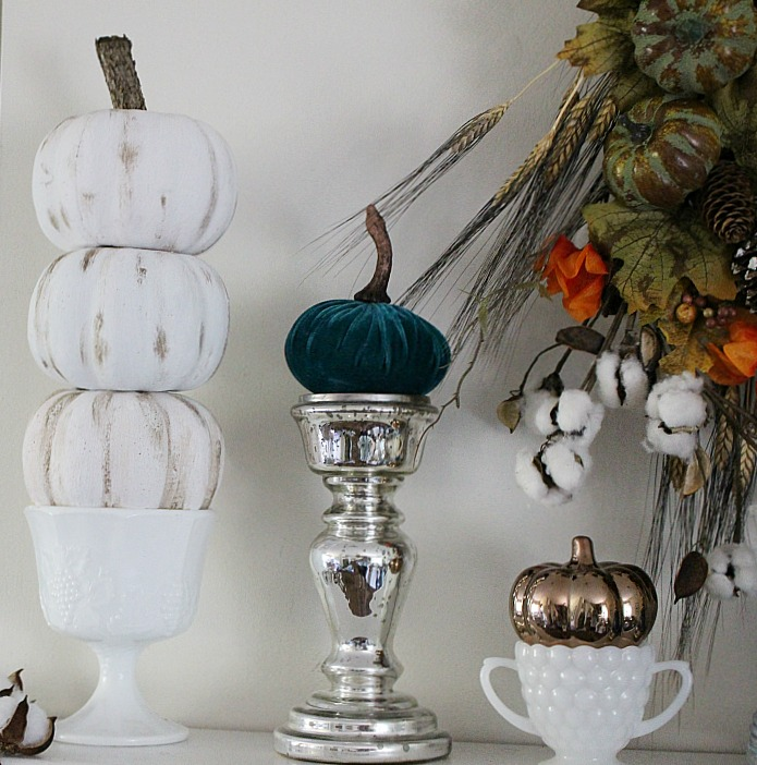 diy pumpkin projects - dollar store pumpkin topiary - ourcraftymom.com
