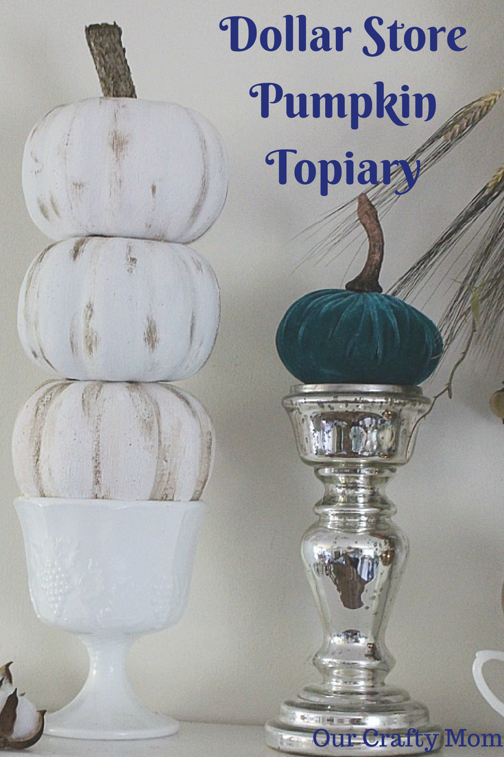 DIY Dollar Store Pumpkin Topiary Our Crafty Mom