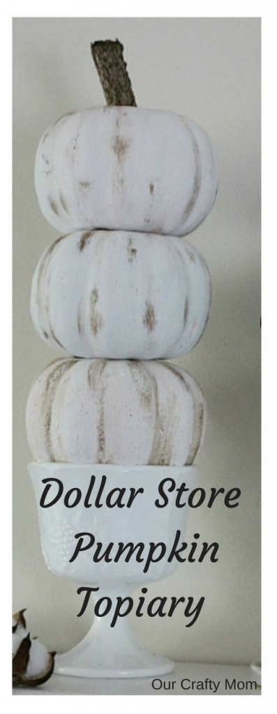 DIY Dollar Store Pumpkin Topiary Our Crafty Mom Pinterest