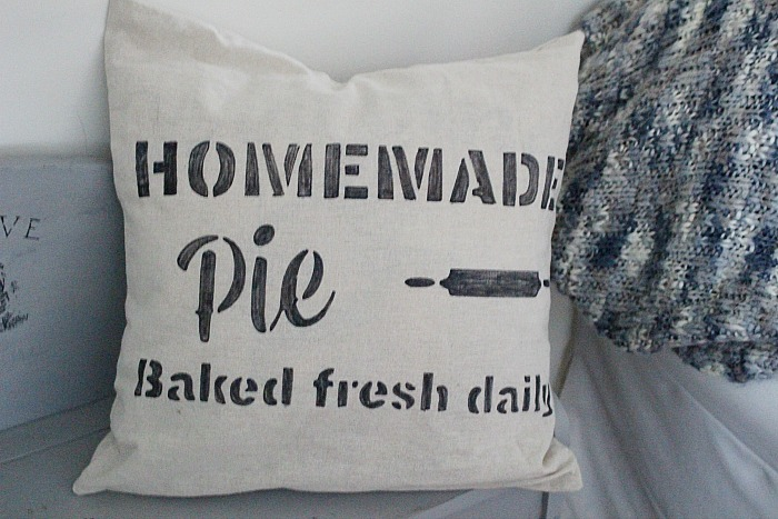 DIY Farmhouse Stenciled Pillows Our Crafty Mom