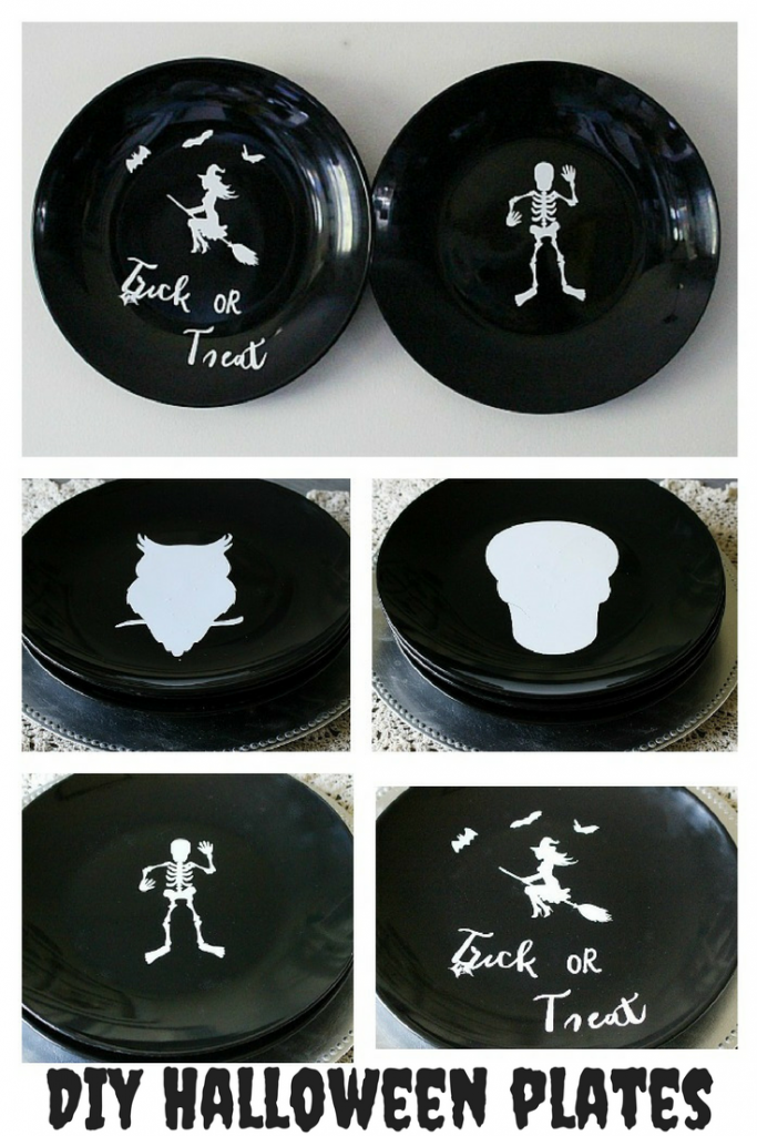 DIY Halloween Plates | Our Crafty Mom & Cricut Maker Giveaway!!!