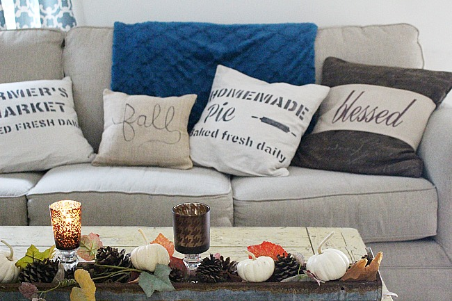 Farmhouse Style Fall Home Tour - Fall Blog Hop Our Crafty Mom