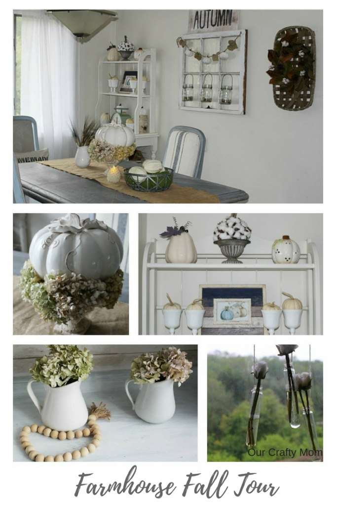 Farmhouse Style Fall Home Tour - Fall Blog Hop - Our Crafty Mom
