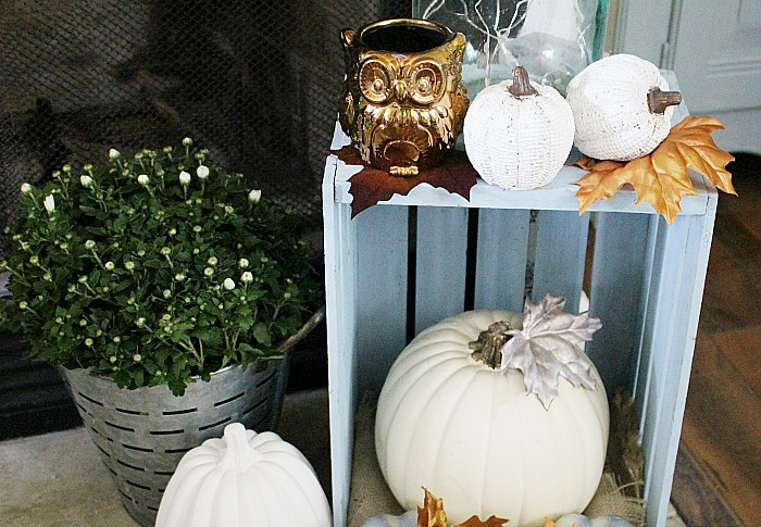 Farmhouse Style Neutral Fall Mantel Our Crafty Mom