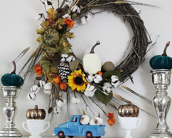 Farmhouse-Style-Neutral-Fall-Mantel-Our-Crafty-Mom