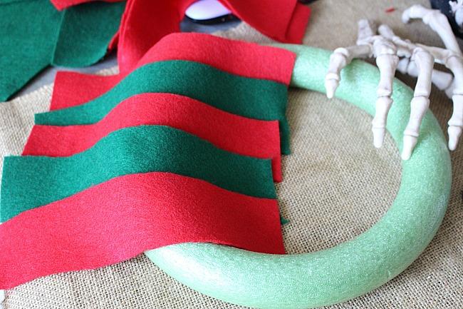 Freddy Krueger Halloween Wreath - Movie Monday Challenge - Our Crafty Mom