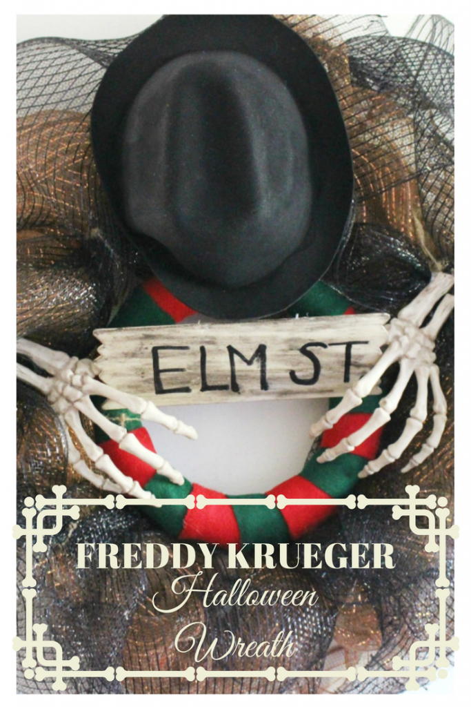Freddy Krueger Halloween Wreath - Movie Monday Challenge - Our Crafty Mom