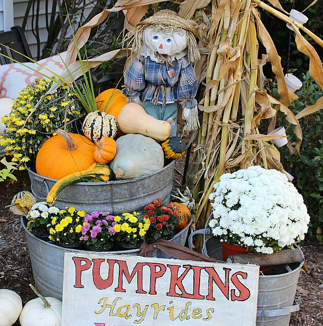 Outdoor Space Blog Hop Fall Front Entry Our Crafty Mom