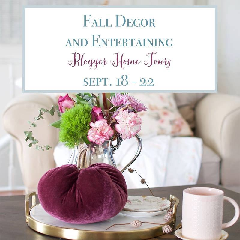 Farmhouse Style Fall Home Tour - Fall Blog Hop Our Crafty Mom