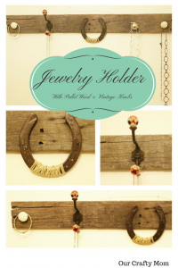 DIY Pallet Necklace Holder With Vintage Knobs