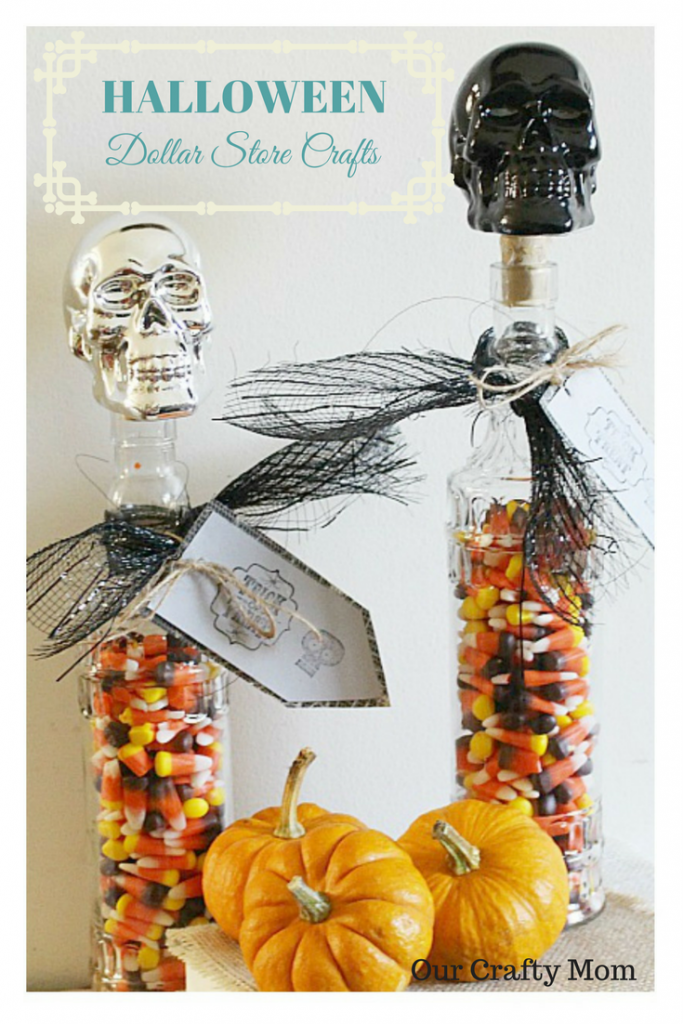 Halloween Skull Candy Jars Our Crafty Mom