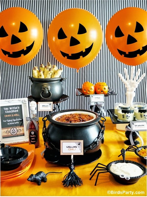 A Halloween Chilling Chili Party Buffet - Bird's Party - HMLP 156 Feature