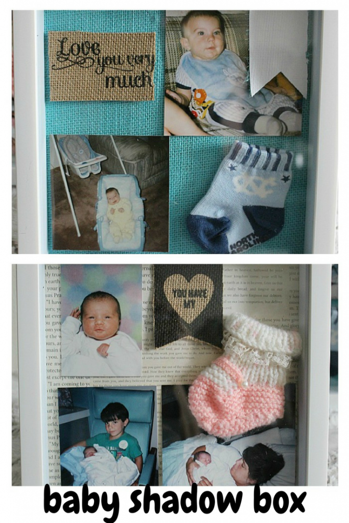DIY Baby Shadow Box-Monthly Craft Destash Challenge