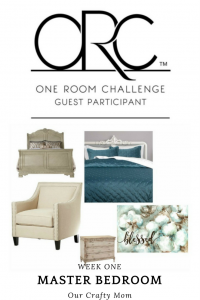 One Room Challenge - Week One -Master Bedroom Retreat - Our Crafty Mom