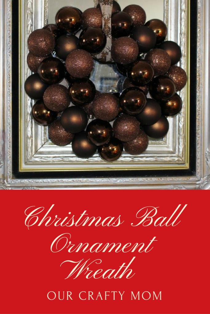 DIY Christmas Ball Ornament Wreath Our Crafty Mom