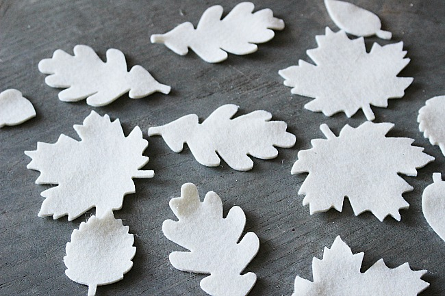 DIY Fall Leaf Garland With Felt Our Crafty Mom