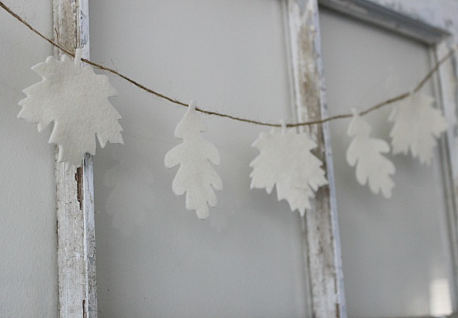DIY Fall Leaf Garland With Felt Our Crafty Mom 4