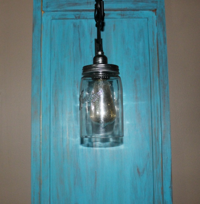 DIY Hanging Light With Old Shutter-ORC Week 4