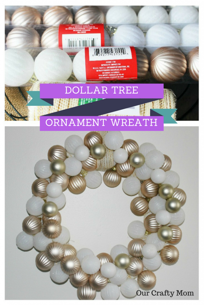 Make A Rose Gold & White Dollar Tree Wreath Our Crafty Mom
