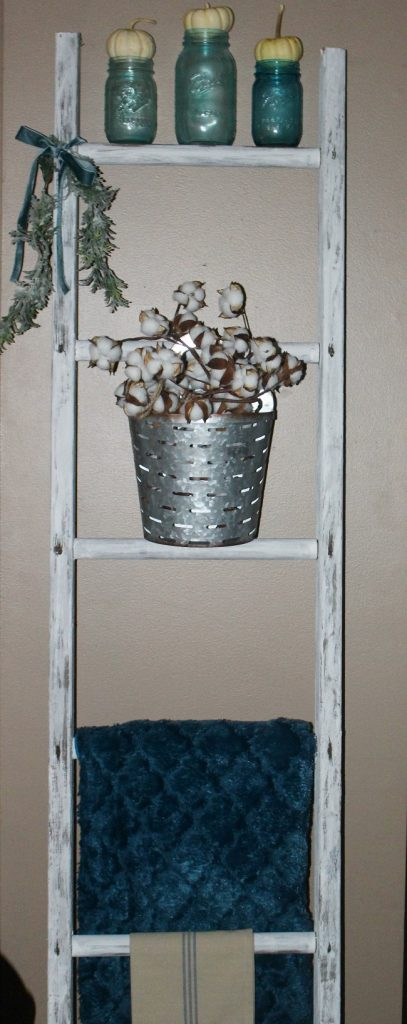How To Decorate With Vintage Ladders Our Crafty Mom 4