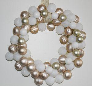 Make A Rose Gold & White Dollar Tree Ornament Wreath