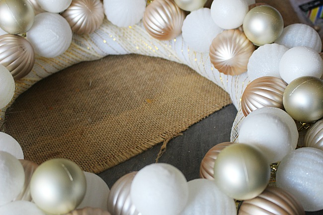 Make A Rose Gold & White Dollar Tree Ornament Wreath Our Crafty Mom
