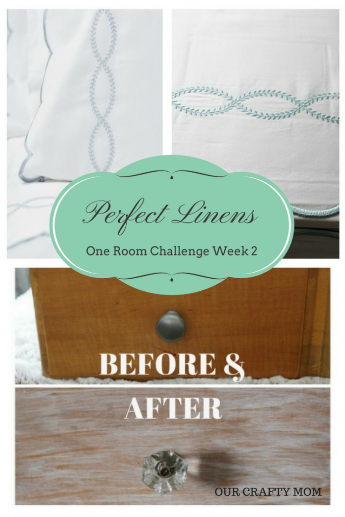 One Room Challenge-Week 2-Luxury Linens For My Master Retreat Our Crafty Mom