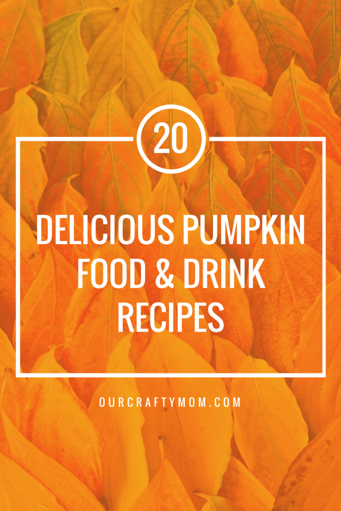 20 Delicious Pumpkin Food & Drink Recipes - Our Crafty Mom