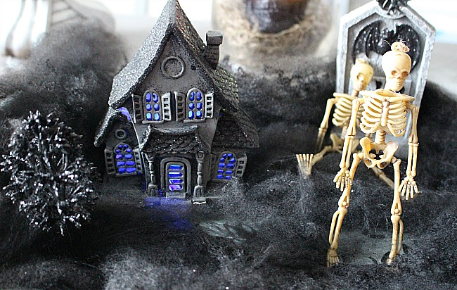 Spooky Skeleton Graveyard-Halloween Decor Blog Hop Our Crafty Mom