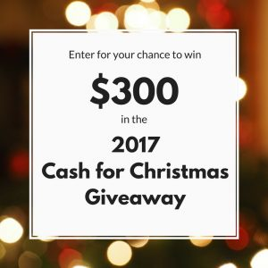 Cash For Christmas Giveaway - Our Crafty Mom