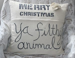 DIY Home Alone Movie Quote Pillow