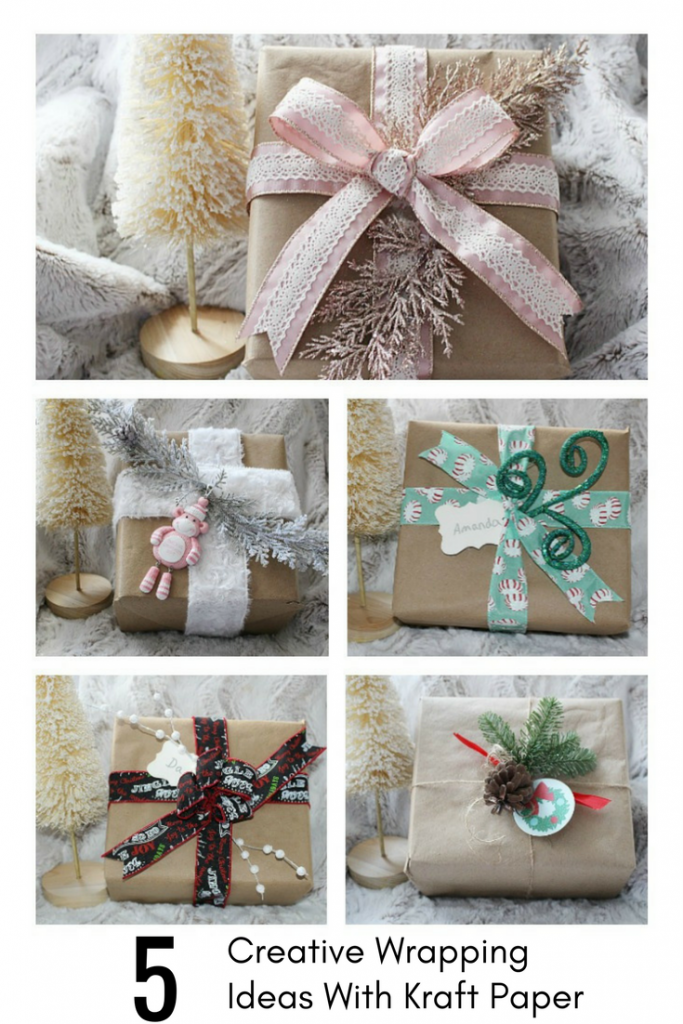 5 Gift Wrapping Ideas Our Crafty Mom #christmaswrapping #giftwrappingideas #christmas