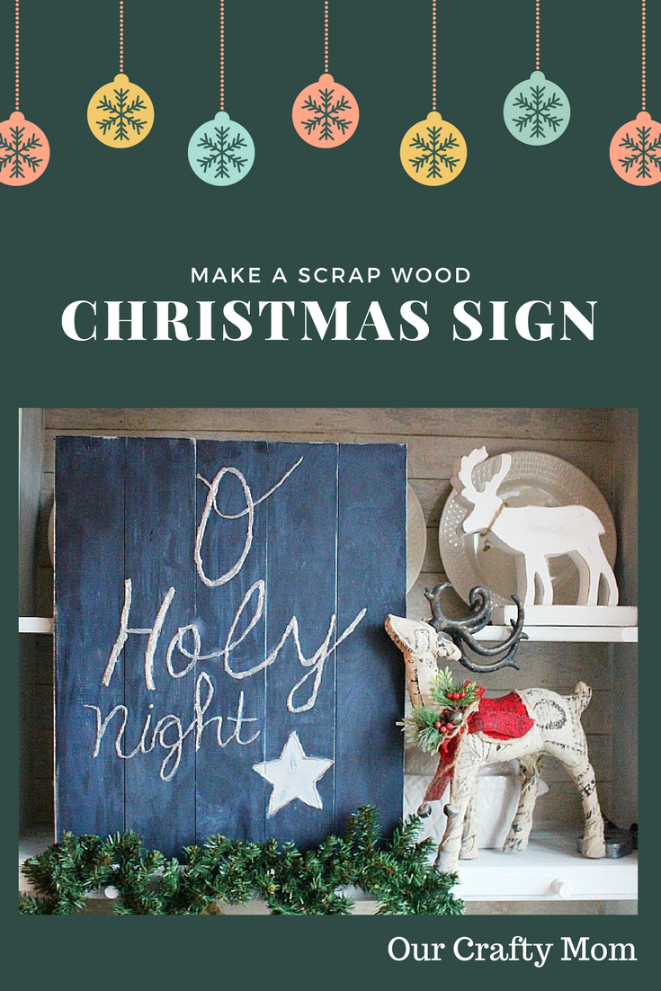 DIY Wood Holiday Sign Our Crafty Mom