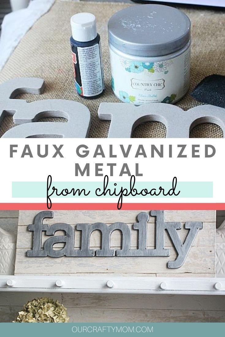 faux galvanized metal diy