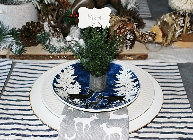 Create A Woodland Themed Tablescape Our Crafty Mom