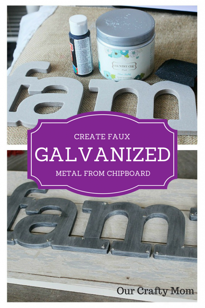 Create faux metal from chipboard Our Crafty Mom