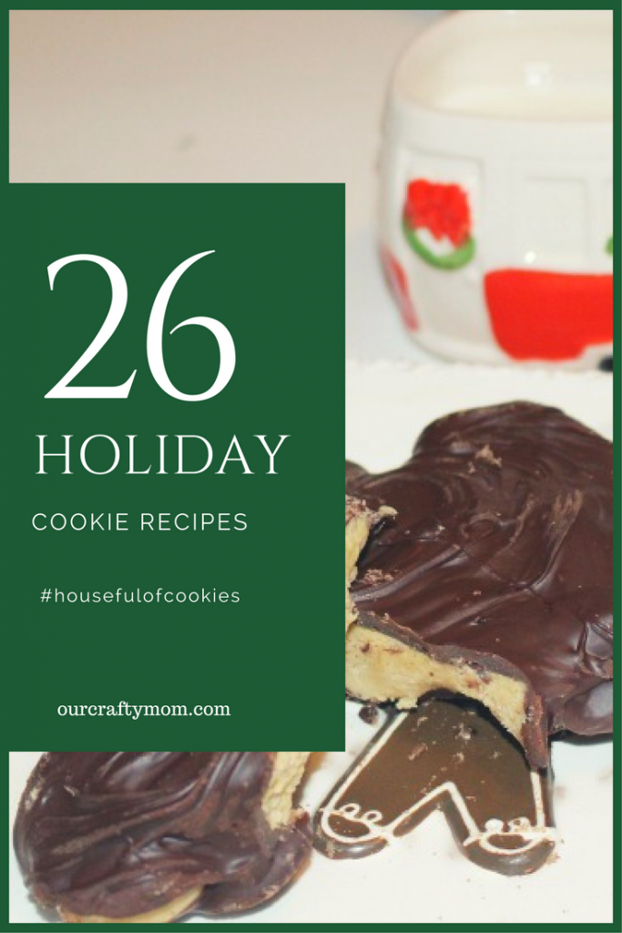 Houseful of Cookies Blog Hop-Peanut Butter Chocolate Cookies Our Crafty Mom #housefulofcookies #christmascookies