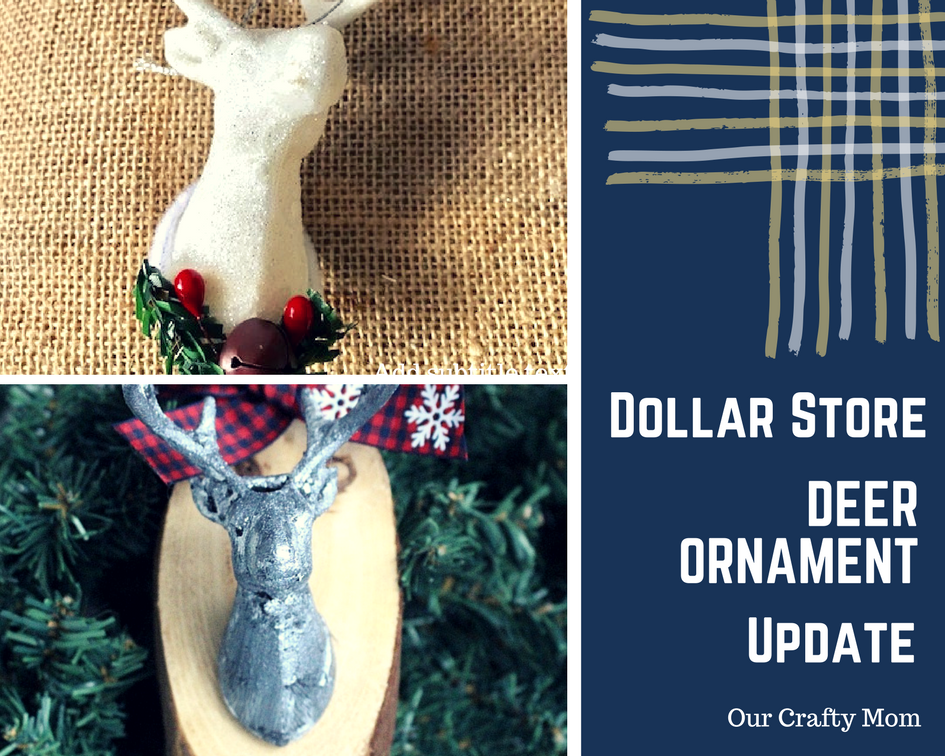 DIY Wood Slice Deer Ornament- Our Crafty Mom