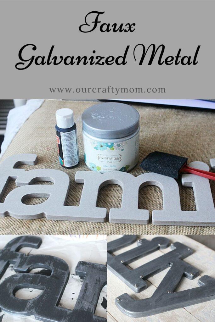 Faux Galvanized Metal