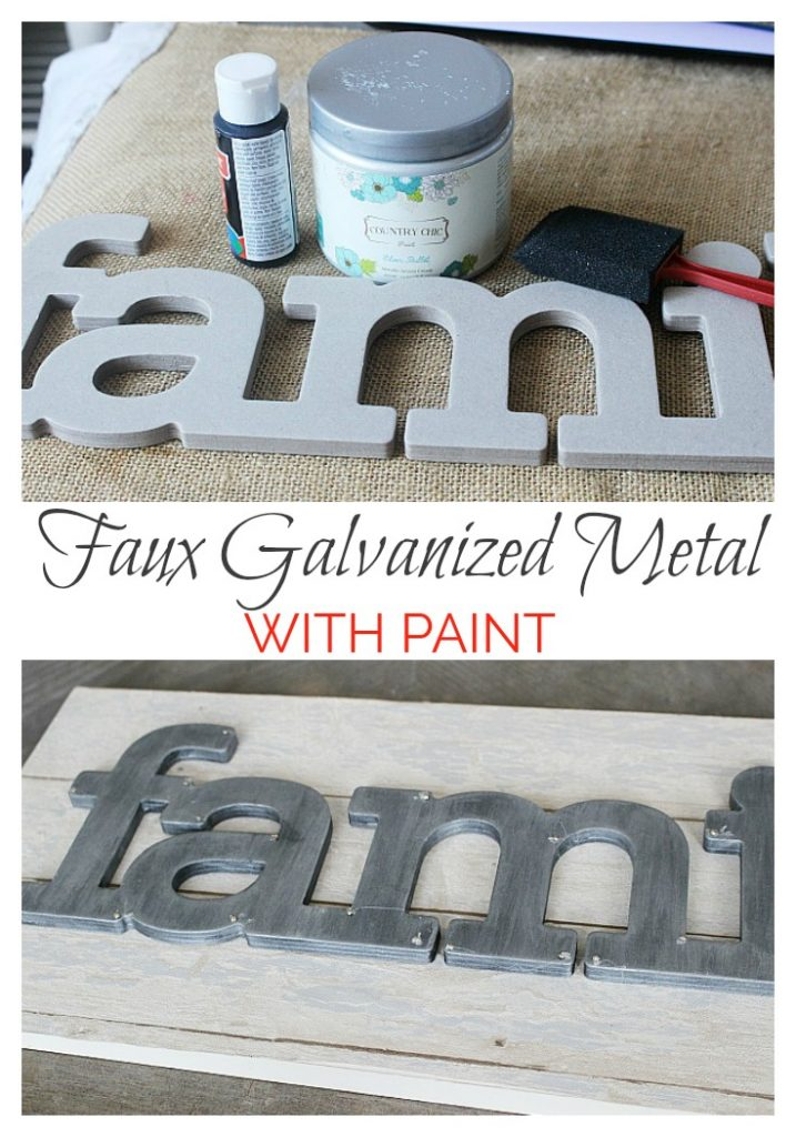 Faux galvanized metal