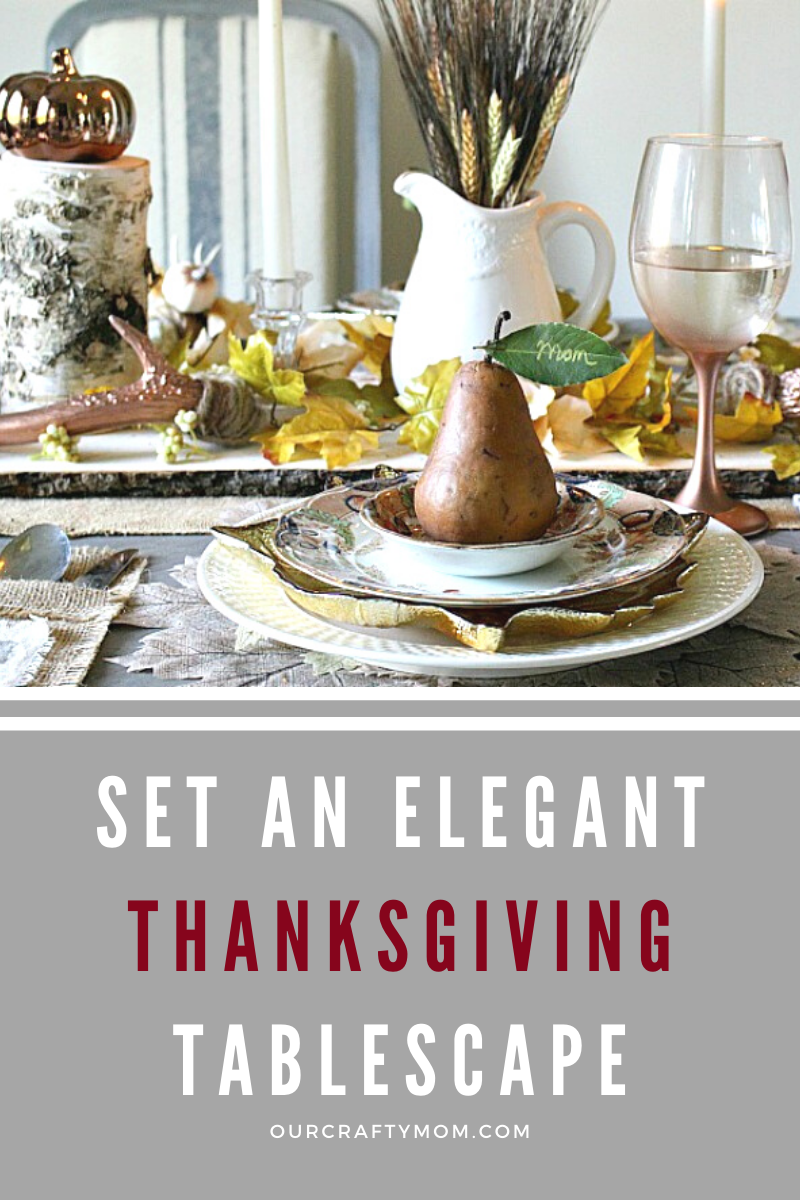 thanksgiving tablescape pin image
