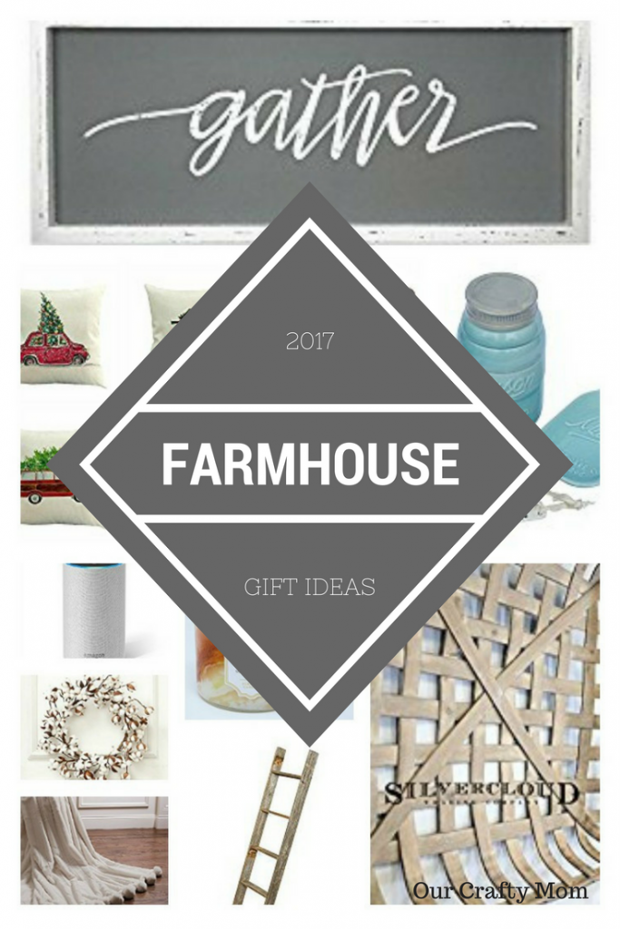 Holiday Gift Guide - Farmhouse Style Gift Ideas Our Crafty Mom #christmasgiftguide #giftguide #farmhouse
