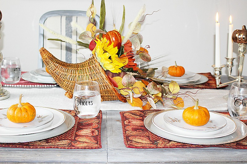 Welcome to the 2017 Thanksgiving Tablescape Blog Hop where 23 bloggers share ideas with you!