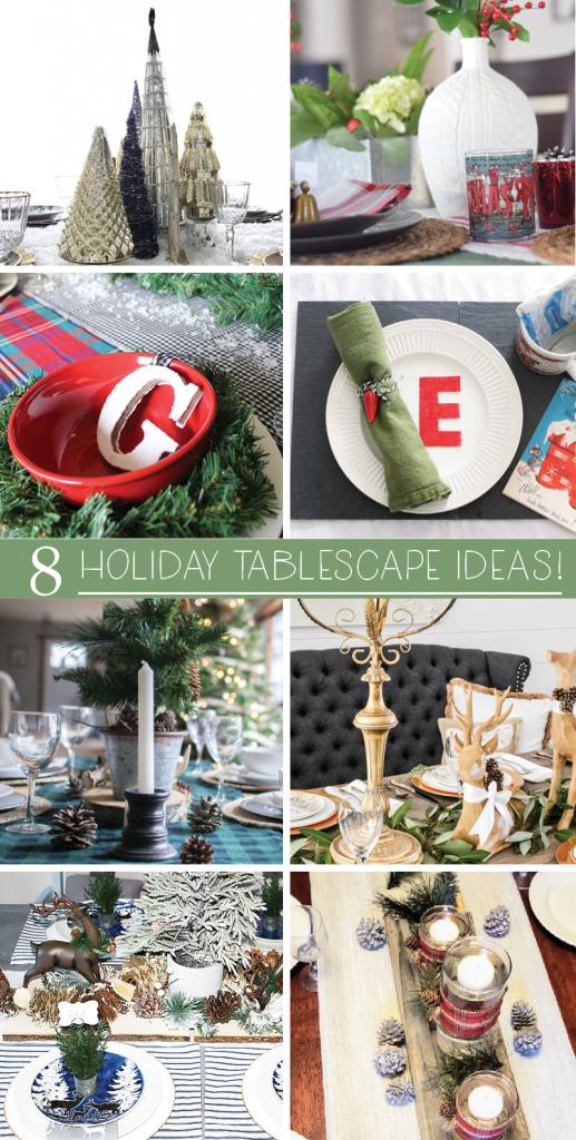 Create A Woodland Themed Tablescape & Blog Hop Our Crafty Mom #christmas #tablescape #bloghop