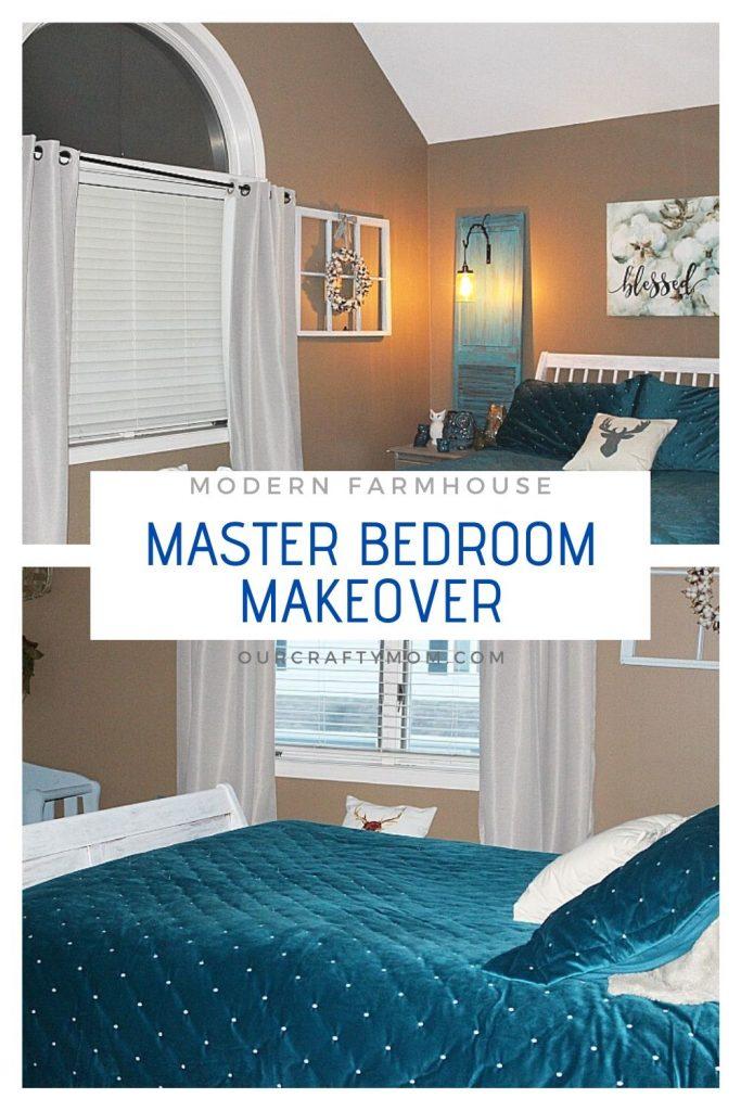 modern farmhouse master bedroom collage
